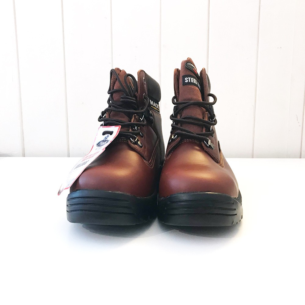392fca81bc0 CLEARANCE - MACK Bulldog Brown Safety Boots - SIZE 6